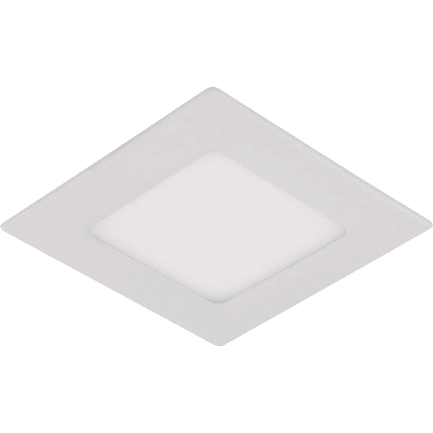 Liteline Trenz ThinLED 4 In. New Construction/Remodel IC White 610 Lm. 4000K Square Recessed Light Kit Image 1