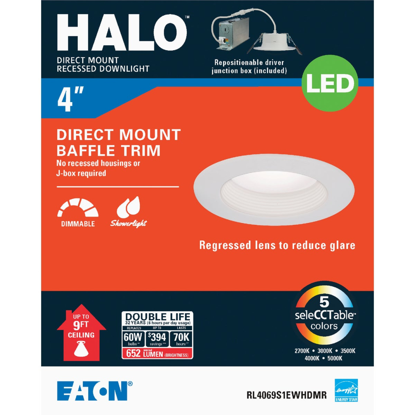 Liteline Trenz ThinLED 4 In. New Construction/Remodel IC White 500 Lm. Sunset Dimming Indirect Recessed Light Kit Image 1