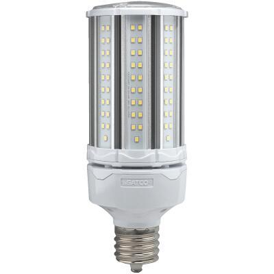 Satco Hi-Pro 54W Clear Corn Cob Mogul Extended Base LED High-Intensity Light Bulb