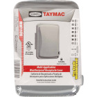TayMac Single Gang Retangular Polycarbonate Gray Weatherproof Outdoor Box Flip Cover Image 1