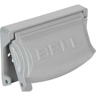 Bell Single Gang Multi-Configuration Die-Cast Metal Gray Outdoor Outlet Cover