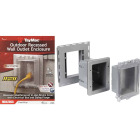 TayMac Gray Vertical/Horizontal Non-Metallic Recessed Outdoor Outlet Kit Image 1