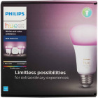 Philips Hue White & Color Ambiance 60W Equivalent Medium A19 Dimmable LED Light Bulb Bluetooth Starter Kit Image 8
