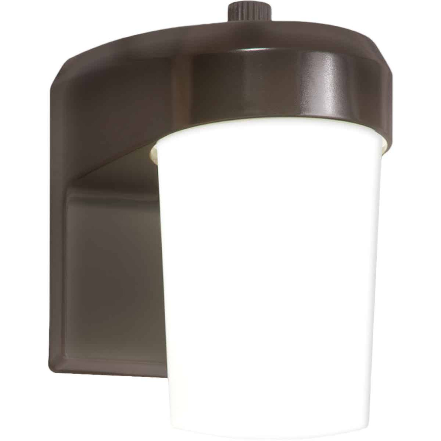 Halo Bronze Dusk To Dawn LED Outdoor Area Light Fixture Image 1