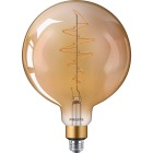 Philips 40W Equivalent Amber G63 Medium Dimmable LED Decorative Light Bulb Image 4