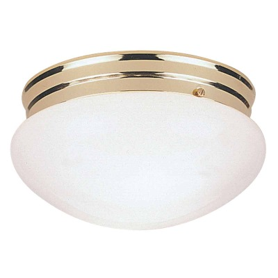 Home Impressions 7-1/2 In. Polished Brass Incandescent Flush Mount Ceiling Light Fixture