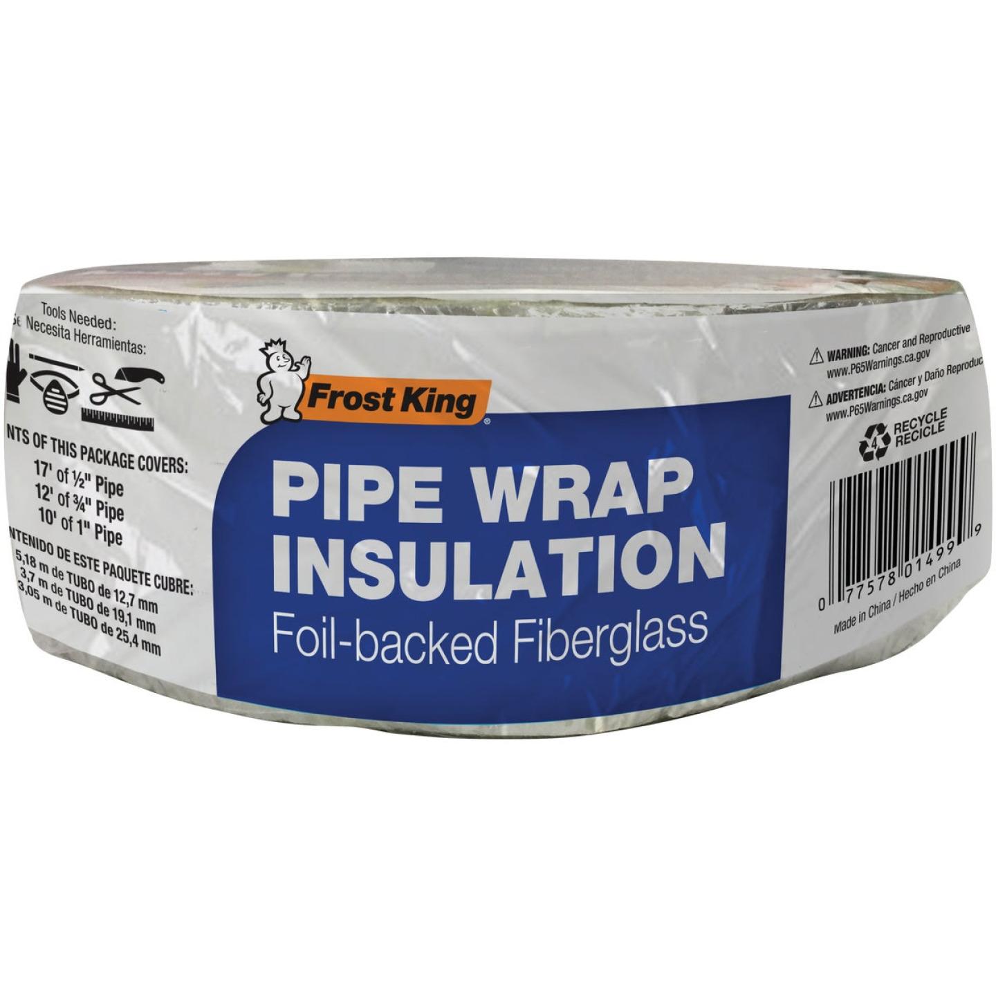 Frost King 1 In. x 3 In. x 25 Ft. Wall Fiberglass Pipe Insulation Wrap Image 2
