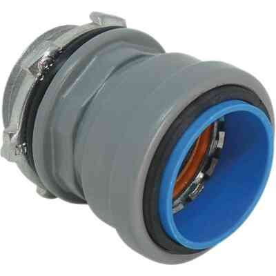 Southwire SimPush 1/2 In. EMT Push-To-Install Watertight Box Connector