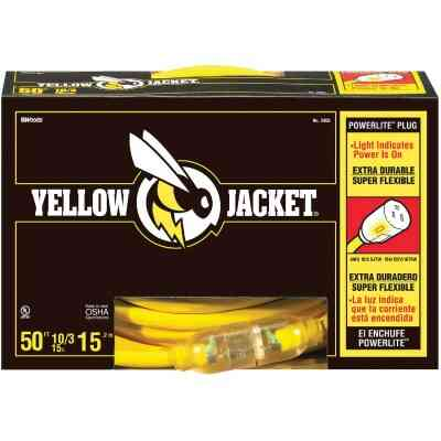 Yellow Jacket 50 Ft. 10/3 Contractor Grade Extension Cord