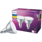 Philips 45W Equivalent Bright White PAR38 Medium Indoor/Outdoor LED Floodlight Light Bulb (2-Pack) Image 1