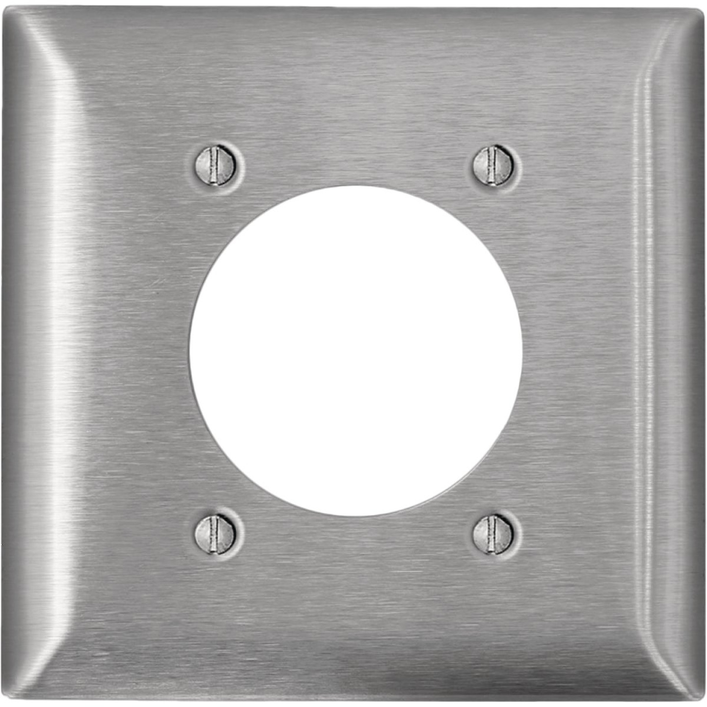 Leviton C-Series 2-Gang Stainless Steel Range/Dryer Wall Plate Image 1