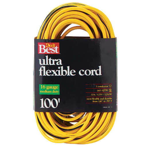 Do it Best 100 Ft. 16/3 Medium-Duty Extension Cord