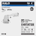 Halo Air-Tite 4 In. Remodel IC/Non-IC Rated Recessed Light Fixture Image 2