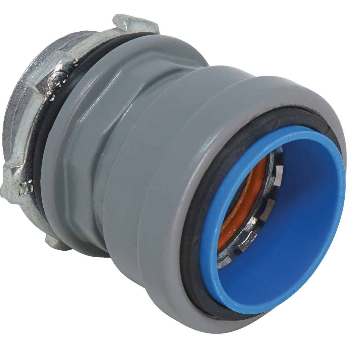 Southwire SimPush 1/2 In. Liquid Tight Metallic Push-To-Install Box Connector Image 1