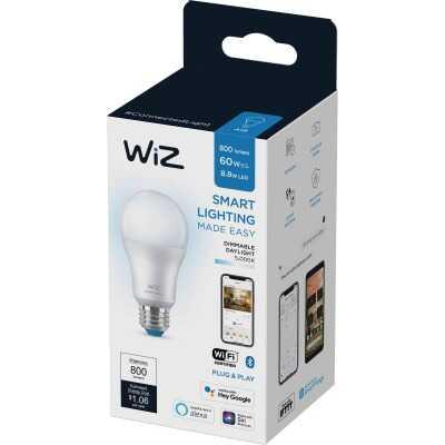 Wiz 60W Equivalent Daylight A19 Medium Dimmable Smart LED Light Bulb