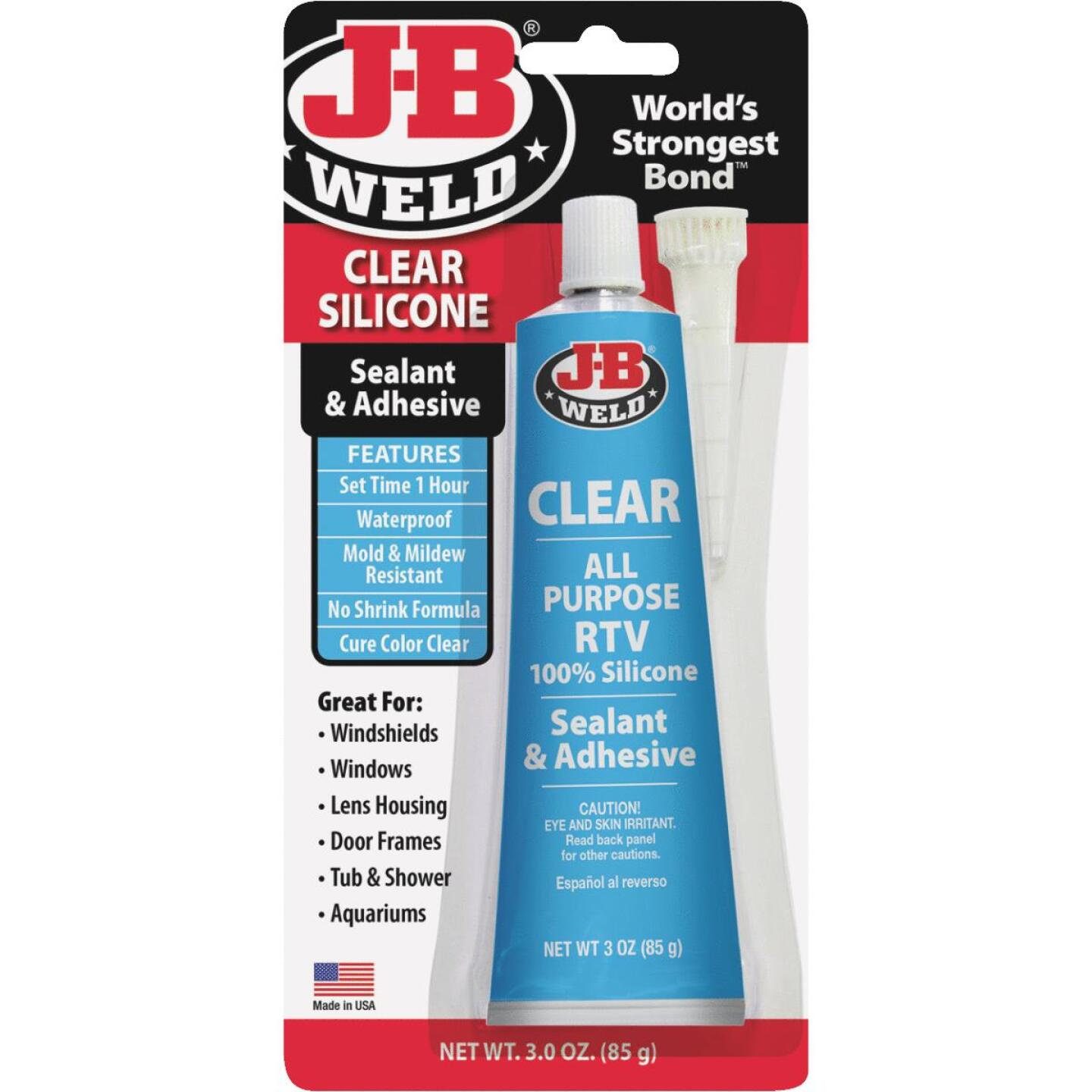 J-B Weld 3 Oz. Clear All-Purpose RTV Silicone Sealant & Adhesive Image 1