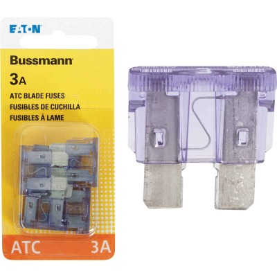 Bussmann 3-Amp 32-Volt ATC Blade Automotive Fuse (4-Pack)