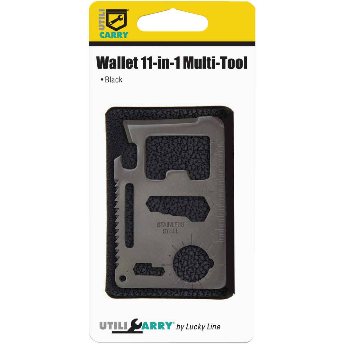 Lucky Line Utilicarry 11-in-1 Black Stainless Steel Wallet Multi-Tool Image 2