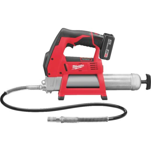 Milwaukee M12 12-Volt Lithium-Ion Cordless Grease Gun Kit