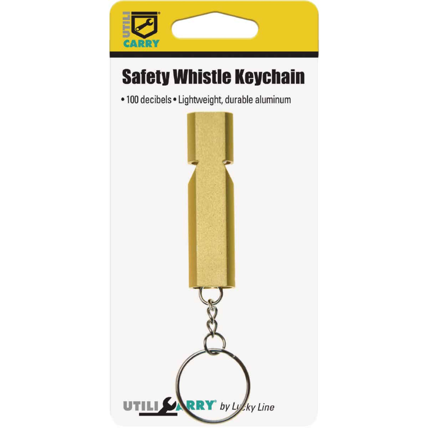 Lucky Line Utilicarry Safety Whistle with Key Ring Image 2