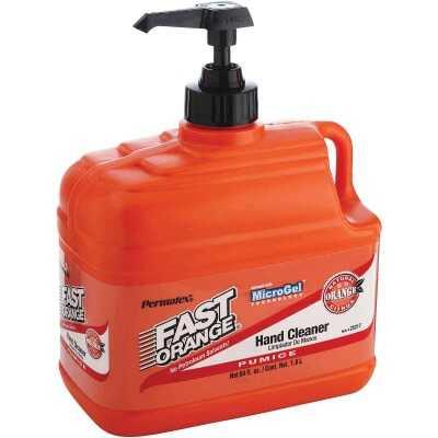 PERMATEX Fast Orange Pumice Orange Citrus Hand Cleaner, 1/2 Gal.