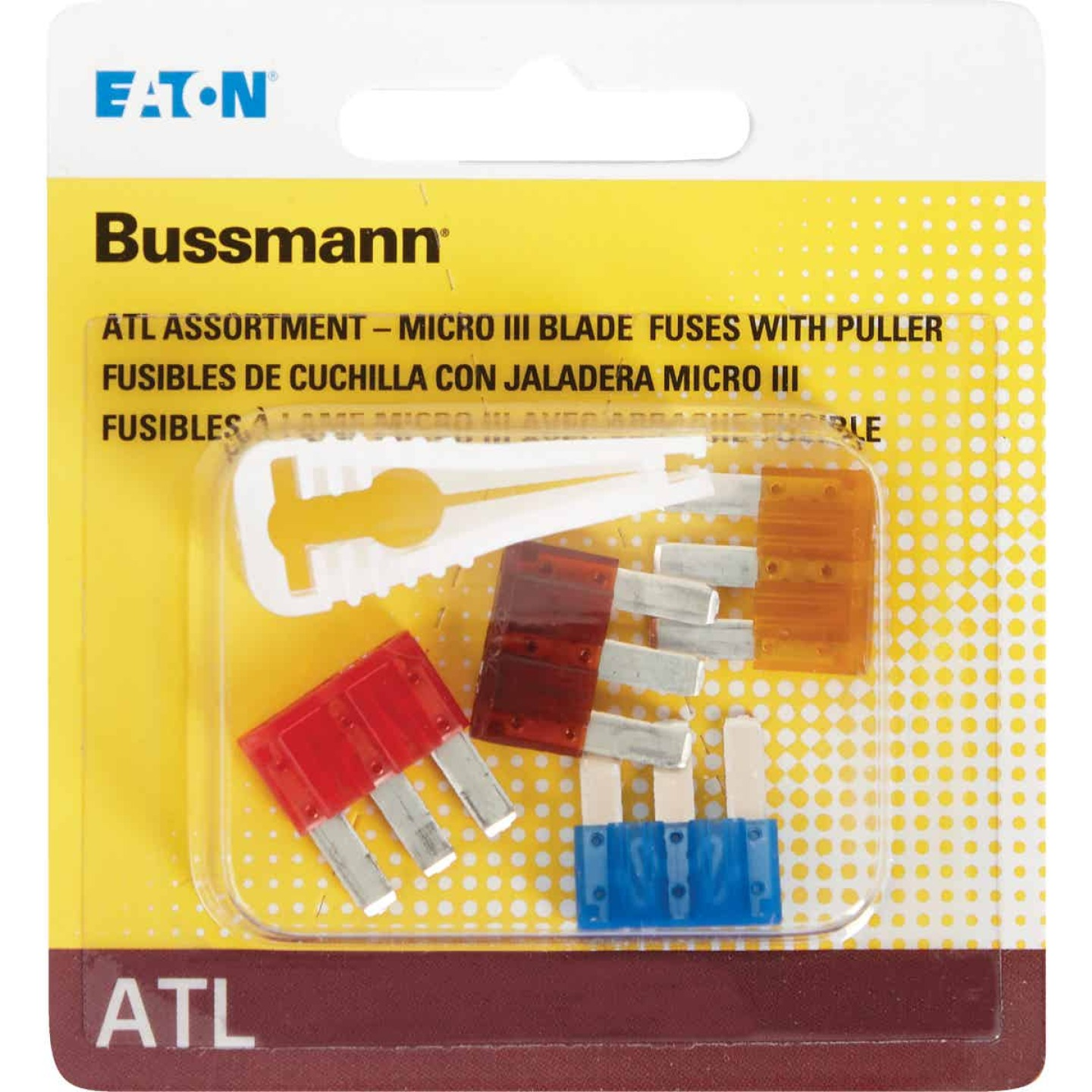 Bussmann ATL (Micro III) Fuse Assortment with Fuse Puller (4-Piece) Image 2