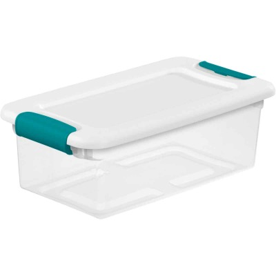 Sterilite 6 Qt. White Latching Storage Tote