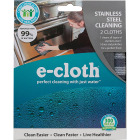 E-Cloth Stainless Steel Cleaning Cloth (2 Count) Image 2