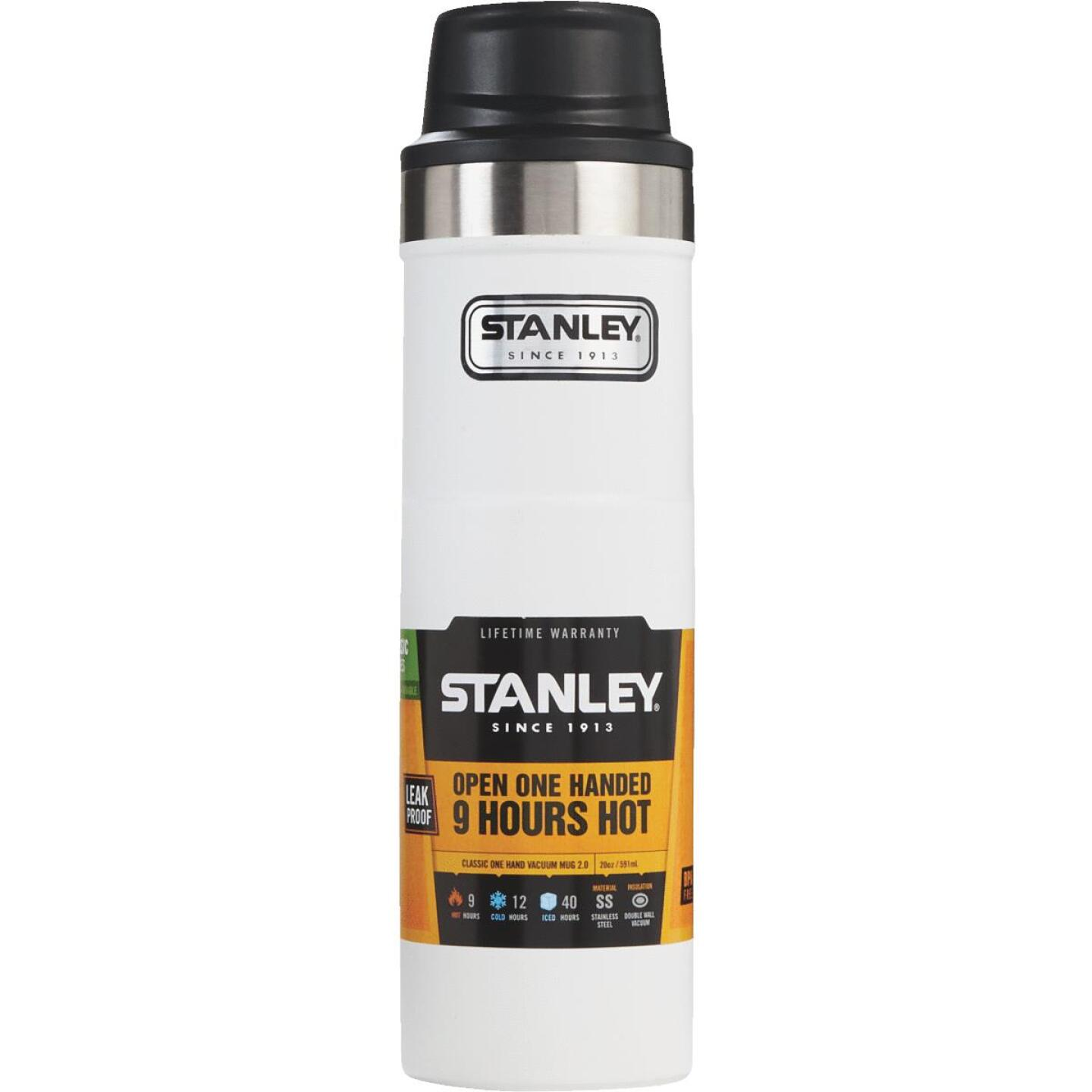 Stanley 20 Oz. Polar White Trigger Action Insulated Tumbler Image 1
