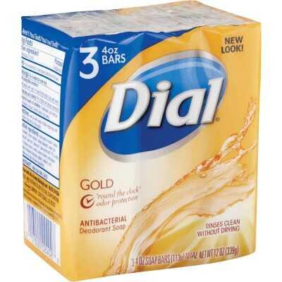 Dial Gold 4 Oz. Bath Bar Soap, (3-Pack)