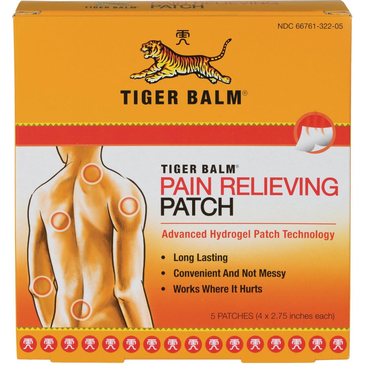 Tiger Balm Pain Relieving Patch (5 Count) Image 1