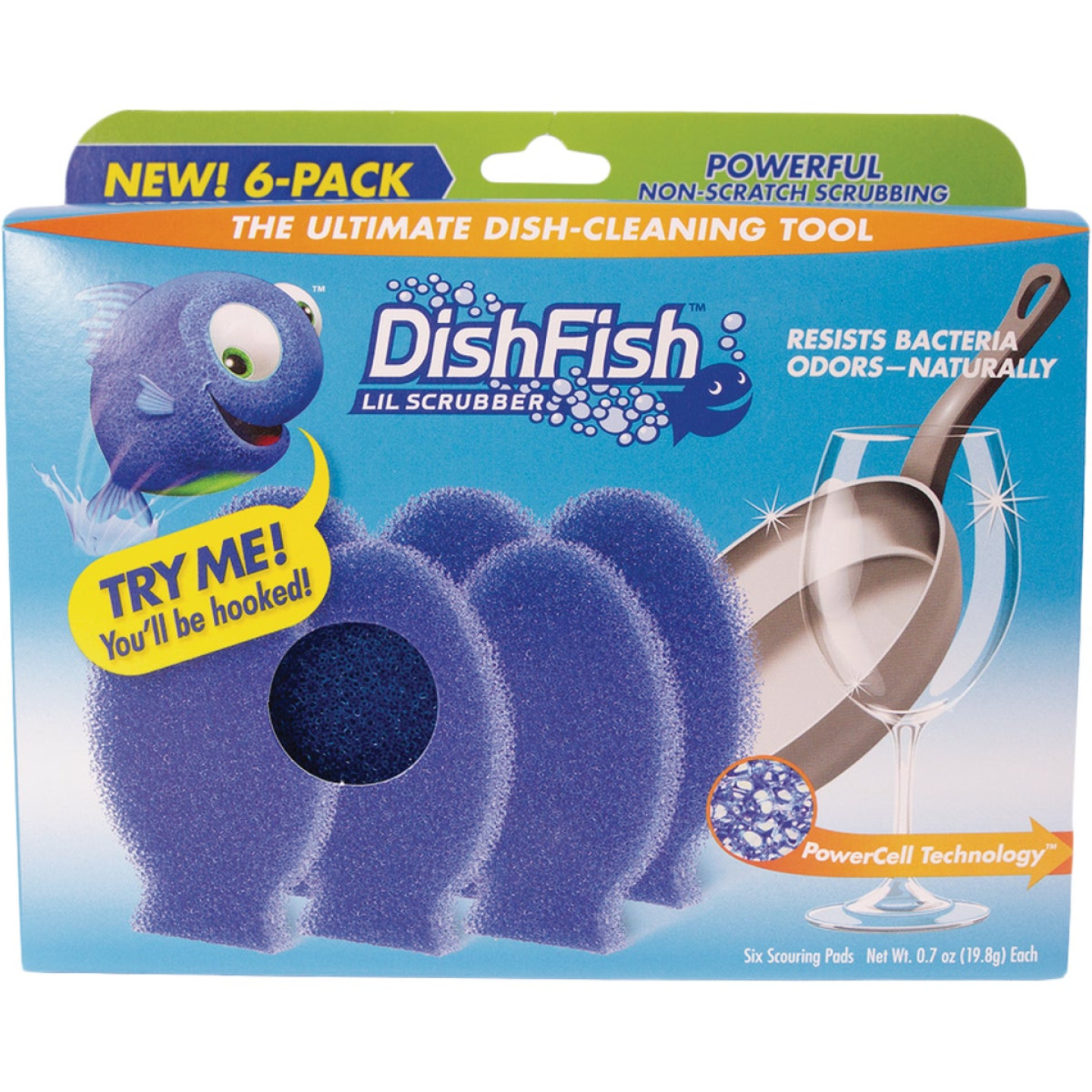 DishFish Lil Scrubber (6 Pack) Image 1