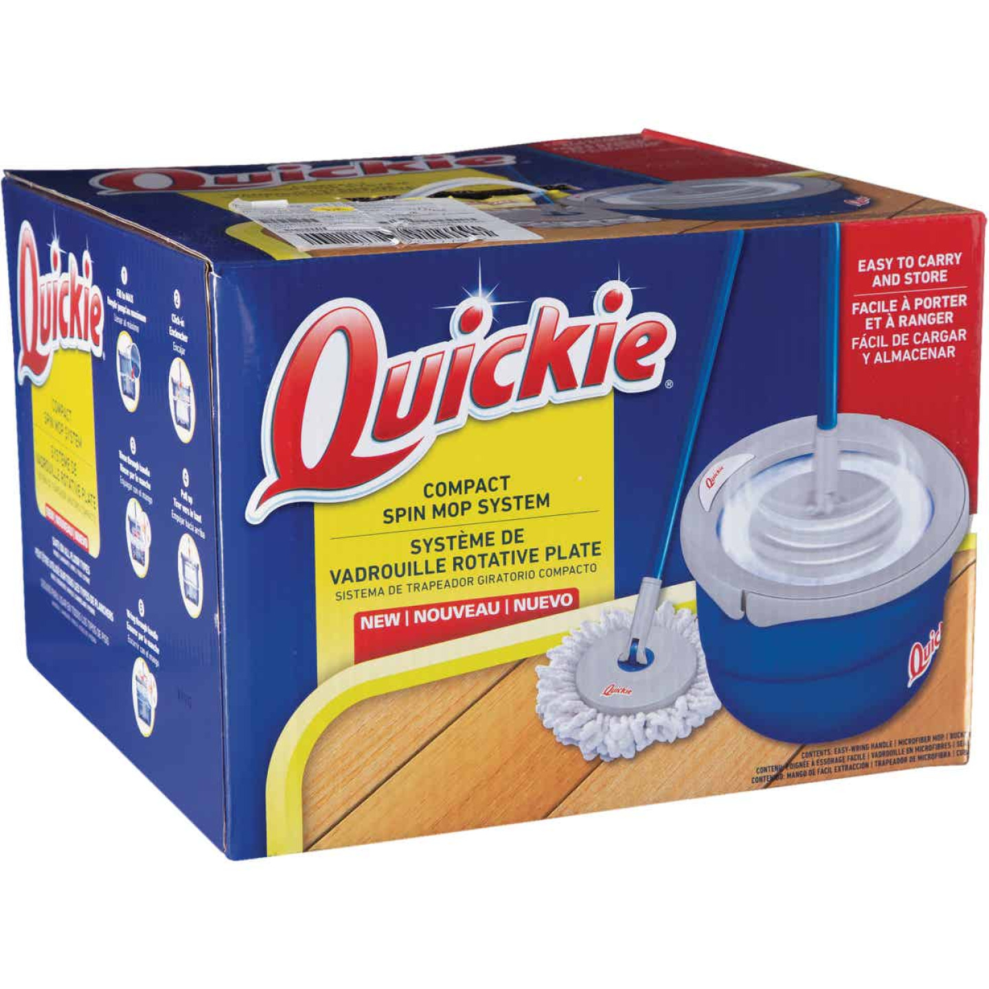 Quickie Compact Spin Mop & Bucket System Image 1