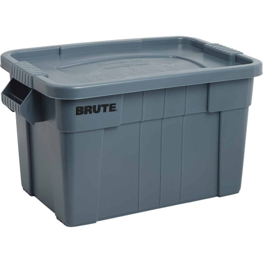 Rubbermaid Commercial Brute 20 Gal. Gray Storage Tote with Lid