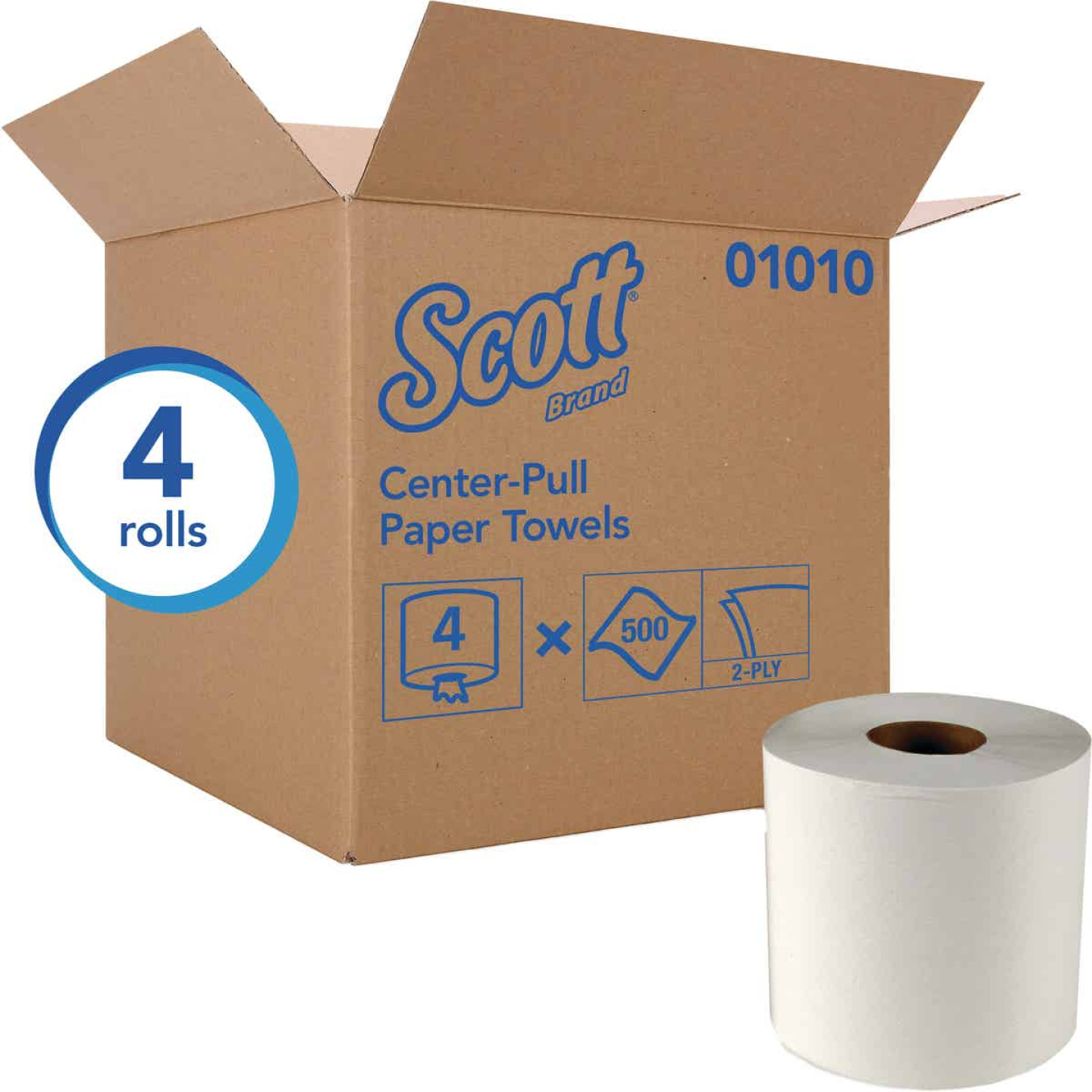Kimberly Clark Scott Essential Center-Pull Flow Roll Towel (4 Count) Image 1