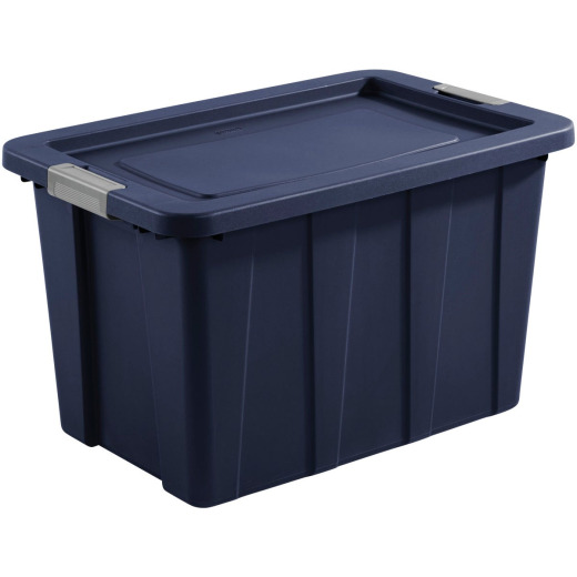 Sterilite Tuff1 30 Gal. Dark Indigo Latching Tote with Titanium Latches