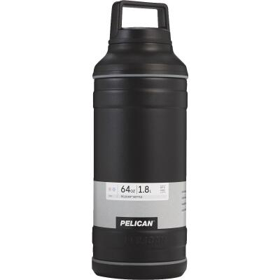Pelican 64 Oz. Black Stainless Steel Travel Bottle