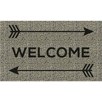 Americo Home Front Runner 18 In. x 30 In. Gold Welcome Arrows Mat