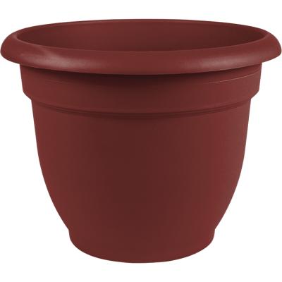 Bloem Ariana 8.8 In. H x 8 In. Dia. Plastic Self Watering Burnt Red Planter