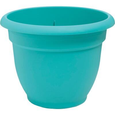 Bloem Ariana 10 In. Plastic Self Watering Bermuda Teal Planter