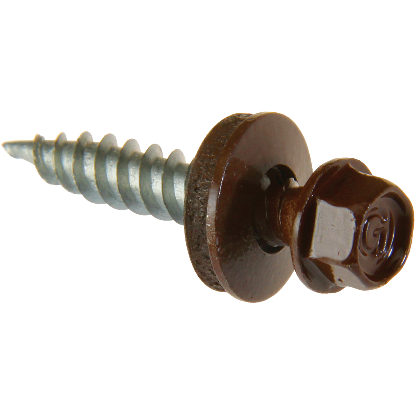 Do it #9 x 2 In. Hex Washered Brown Framing Screw (250 Ct.) Image 1