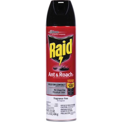 Raid 17.5 Oz. Unscented Aerosol Spray Ant & Roach Killer