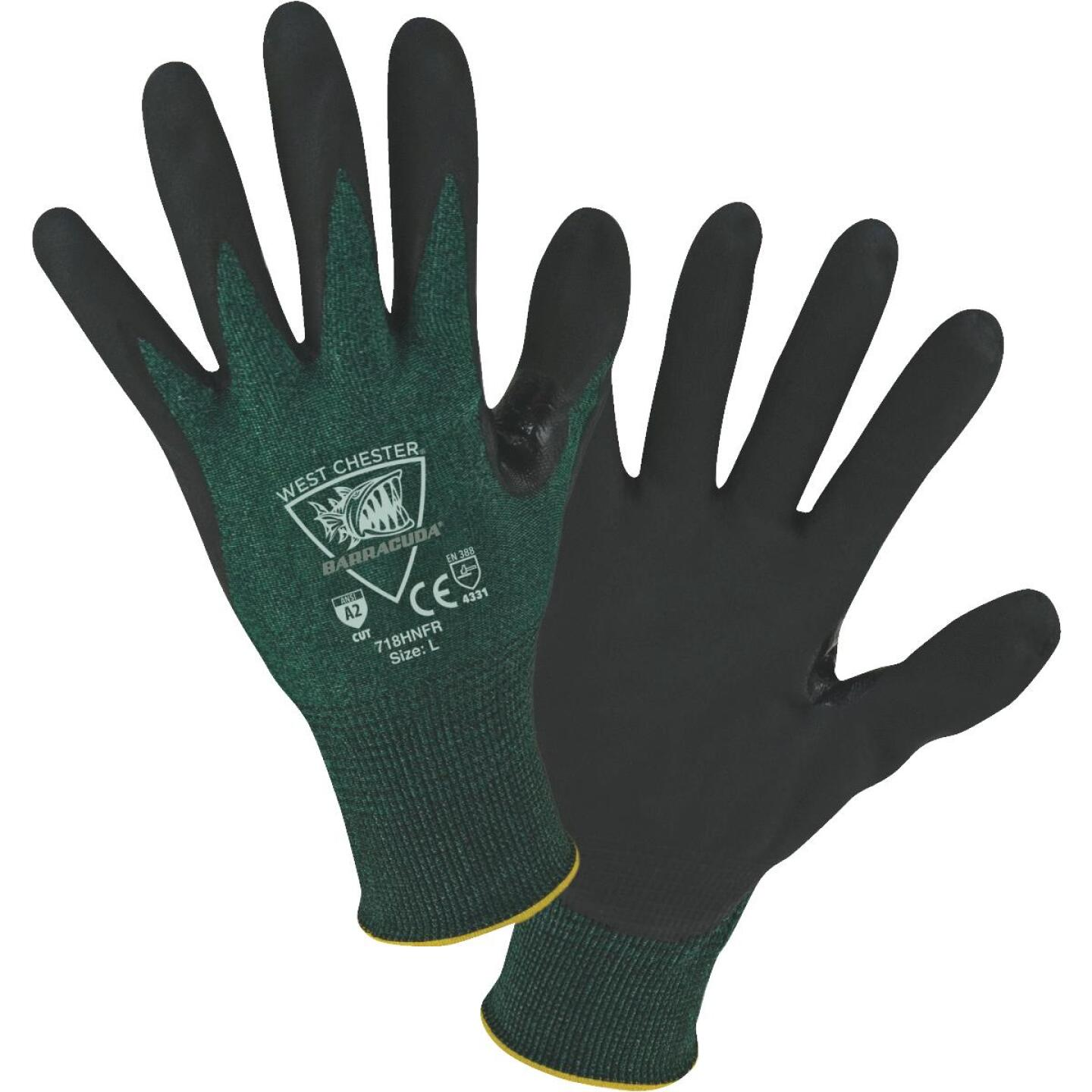 West Chester Protective Gear Barracuda Men's XL 18-Gauge Nitrile Coated Glove Image 1