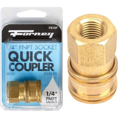 Forney 1/4 In. Female Quick Coupler Pressure Washer Socket