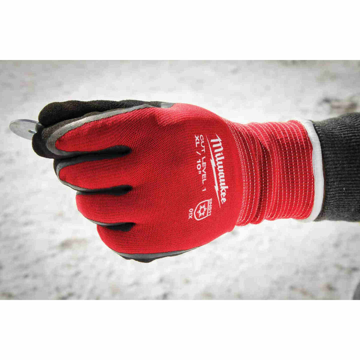 Milwaukee Unisex XL Latex Coated Cut Level 1 Insulated Work Glove Image 2