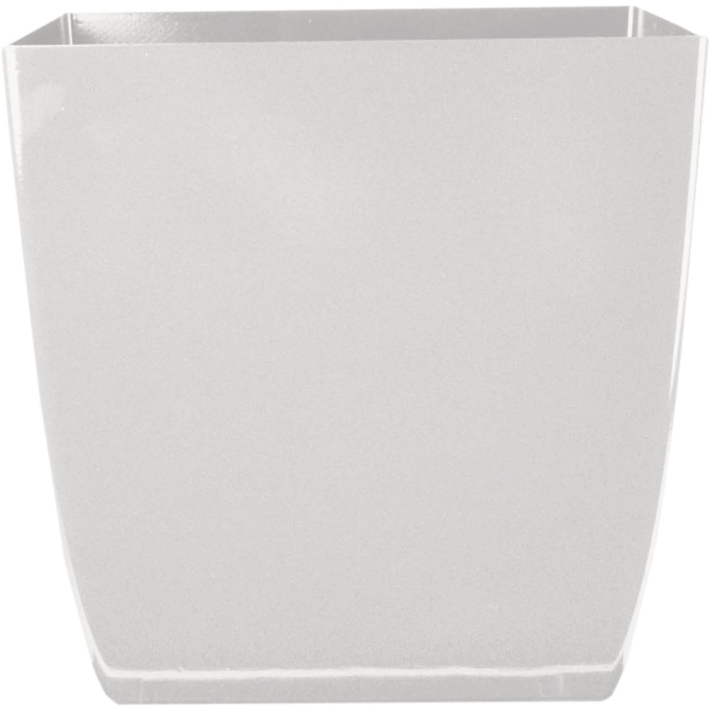 Myers Aria 6 In. Glossy White Square Planter Image 1