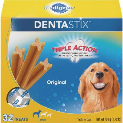 Pedigree Dentastix Large Dog Original Flavor Dental Dog Treat (32-Pack)