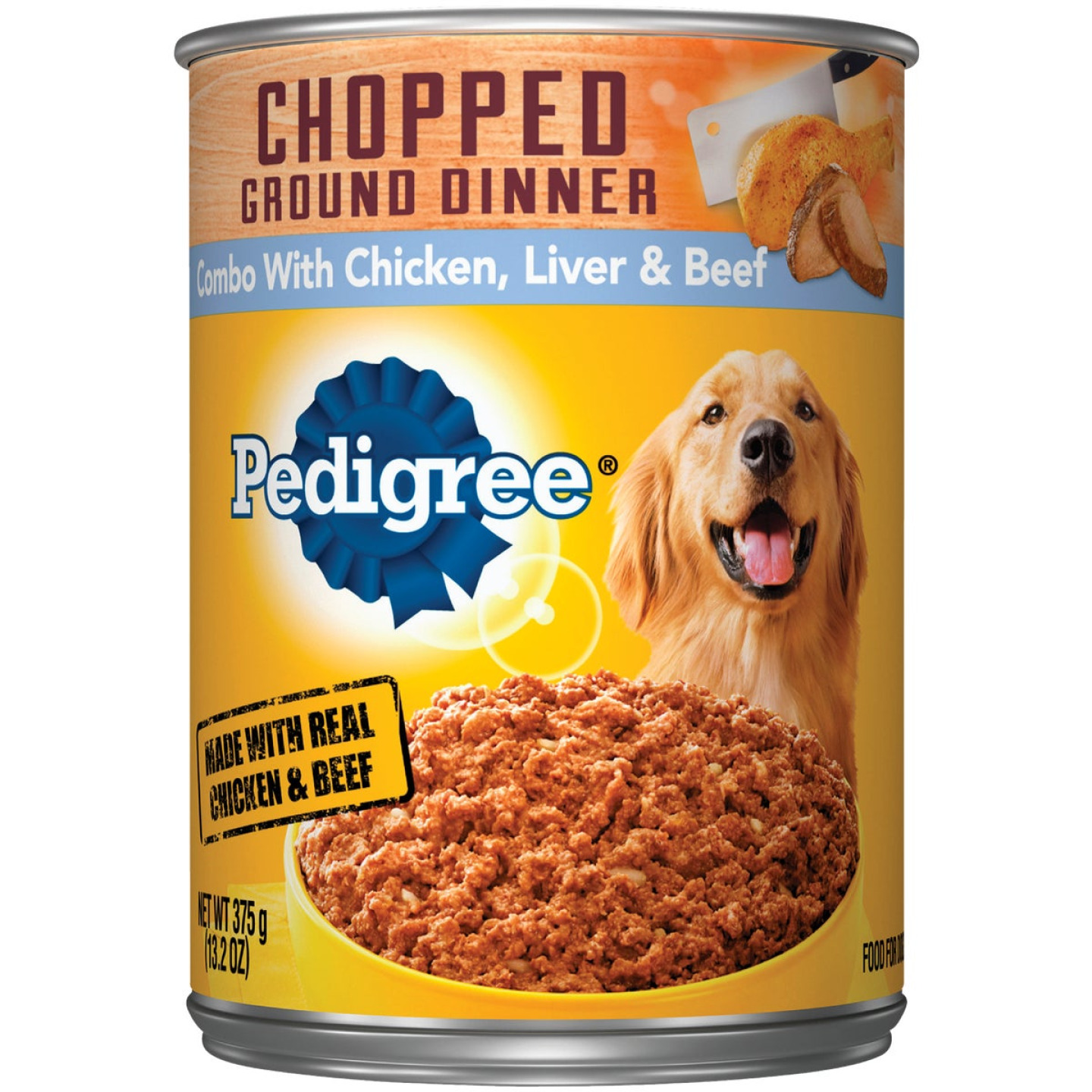 Pedigree Traditional Chopped Ground Dinner Combo with Chicken, Liver, & Beef Wet Dog Food, 13.2 Oz. Image 1