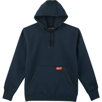 Milwaukee Medium Navy Blue Heavy-Duty Pullover Hooded Sweatshirt