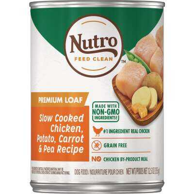 Nutro Grain Free Premium Loaf Slow Cooked Chicken, Potato, Carrot, & Pea Adult Wet Dog Food, 12.5 Oz.